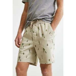 Urban outfitters cactus print elastic waist shorts